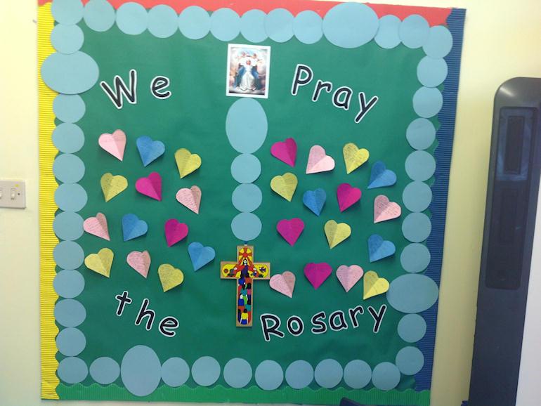 We Pray the Rosary display