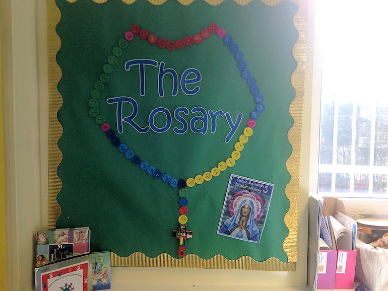 The Rosary display