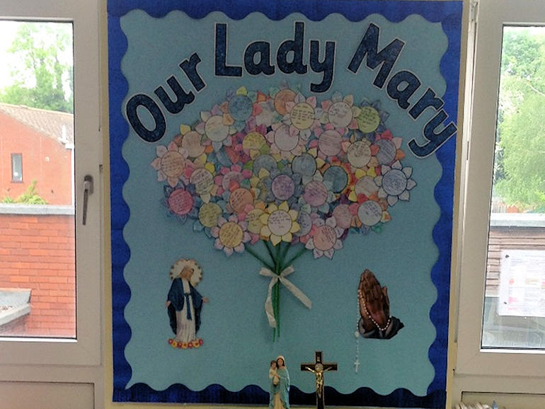 Our Lady Mary class display