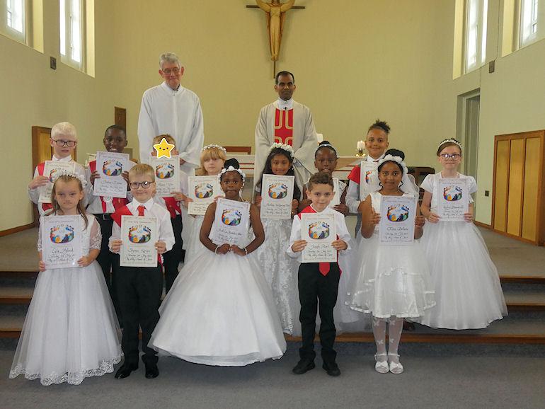 First Holy Communion children