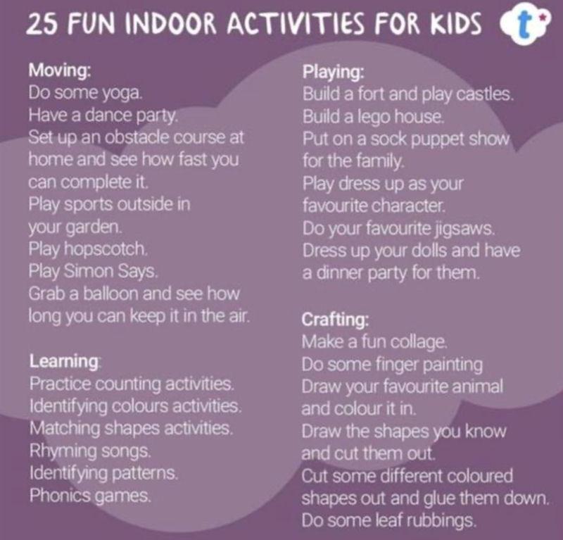 25 Fun Indoor Activities for Kids