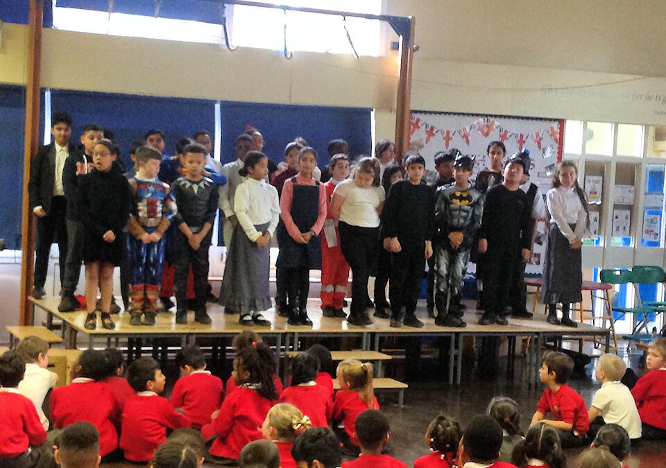 Year 5 Assembly on Heroes
